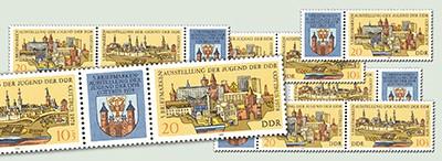 DDR Zdr.-Kombinat. MiNr. 2343/44 ** Briefm.-Ausst. d. Jugend (WZd 370-375)