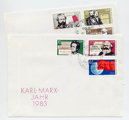 DDR FDC MiNr. 2783/88 100. Tdtg. Karl Marx