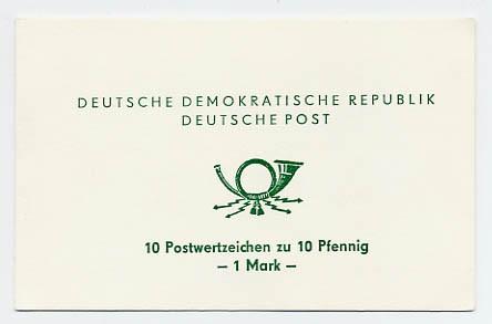 DDR SMHD 1e ** Posthorn (Schrift grün)