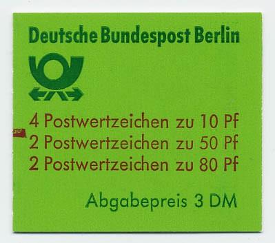 Berlin MH 13a ** mZ / Burgen und Schlösser 1982 mit Zählbalken