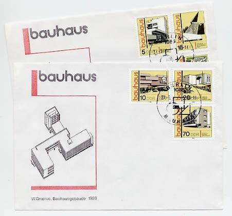 DDR FDC MiNr. 2508/13 Bauhaus