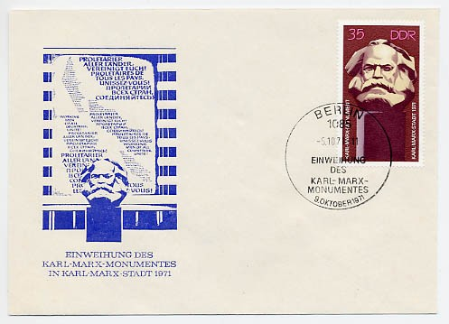 DDR FDC MiNr. 1706 K. -Marx-Denkmal
