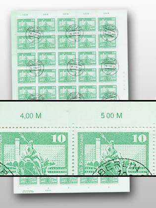 DDR MiNr. 1843 o 10 Pf Freimarken: Aufbau in der DDR (groß)