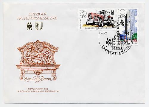 DDR FDC MiNr. 2498/99 LFM 1980