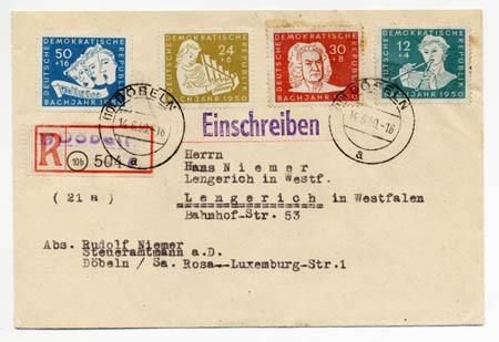 DDR FDC MiNr. 256/59 Bachjahr