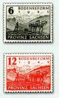 SBZ Prov.Sa. Wasserzeichen-Kollektion Nr. 90/91 **