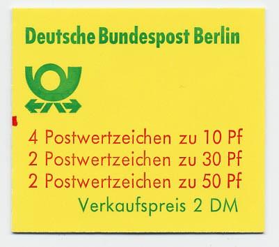 Berlin MH 10ba ** mZ / Burgen u.Schlösser 1977 mit Zählbalken