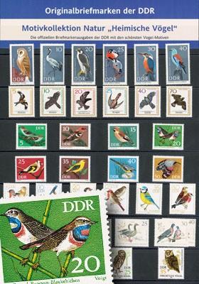 DDR - Motivkollektion Heimische Vögel **