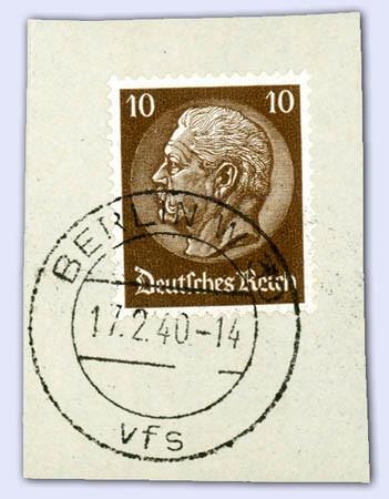 Dt. Reich MiNr. 518 Y o 10 Pfg. Hindenburg-Medaillon ( Y Verkehrtes Wz.)