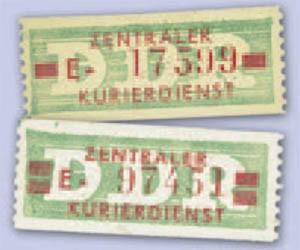 DDR Dienstmarken B MiNr. 30/31 ** 10 Pf. - 1 Wertbalken u. 20Pf.- 2 Wertbalken