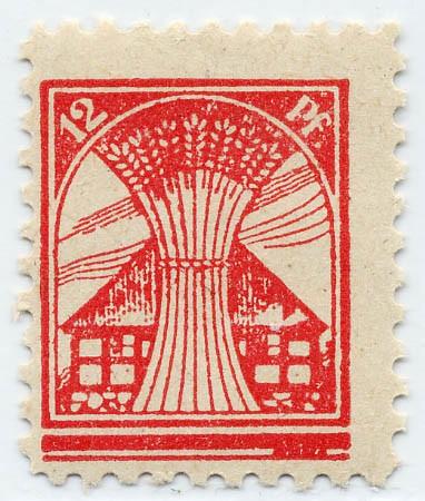 SBZ M./V. MiNr. 18 IIc ** - 12Pf rosarot, Platte 2