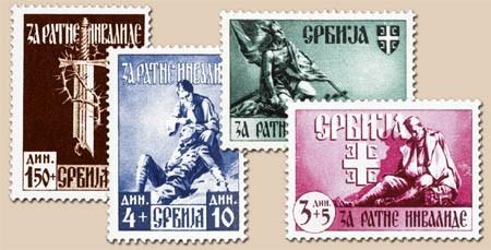 Dt. Besetzung Serbien MiNr. 86-89 ** Für serbische Kriegsinvaliden (4 Werte)