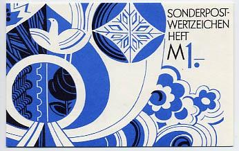 DDR SMHD 7 ** Posthorn, Taube, Blumen