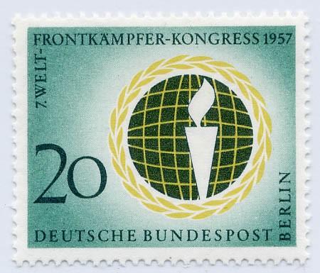 Berlin MiNr. 177 ** Welt-Frontkämpfer-Kongreß, Berlin