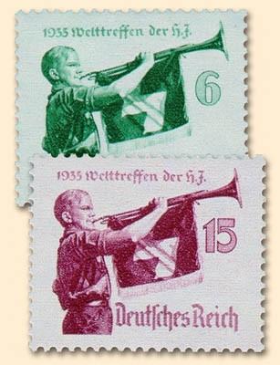 Dt. Reich MiNr. 584/85y ** Welttreffen der Hitlerjugend