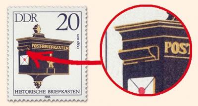DDR MiNr. 2925 PF I ** 20 Pf Histor. Briefkästen