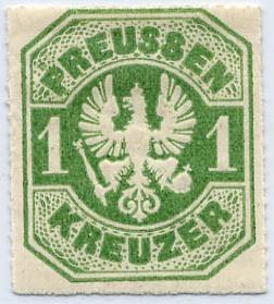 Preußen MiNr. 22 * 1 Kr smaragdgrün
