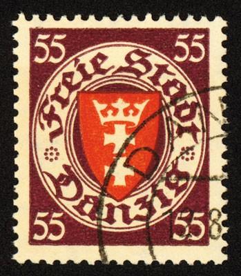 Freie Stadt Danzig MiNr. 269 o FM Staatswappen im Kreis (VII)