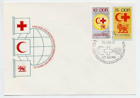 DDR FDC MiNr. 1466/67 Rotes Kreuz
