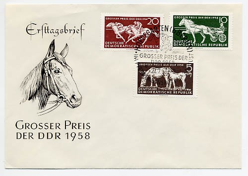 DDR FDC MiNr. 640/42 Pferdesport