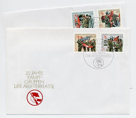 DDR FDC MiNr. 3177/80 35 Jahre Kampfgruppen