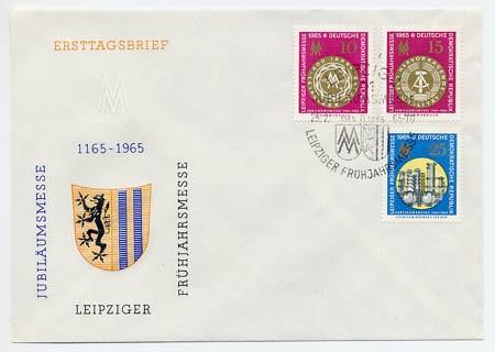 DDR FDC MiNr. 1090/92 LFM 1965