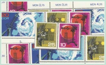 DDR Zdr.-Kombinat. MiNr. 1343/45 ** Meteorologie (WZd 186 - 191)