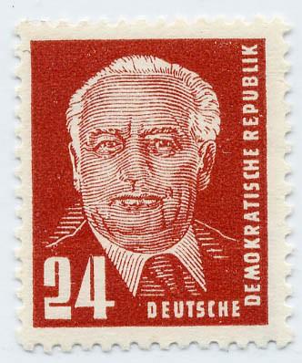 DDR MiNr. 252 b ** gepr. - 24 Pf Freimarke Pieck