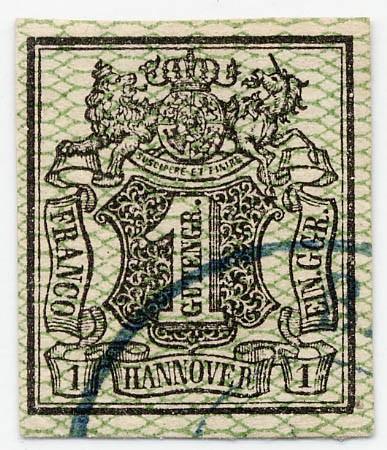 Hannover MiNr. 9 o 1Ggr. /olivgrün / geschnitten