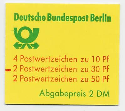 Berlin MH 11ca ** mZ / Burgen und Schlösser 1980 mit Zählbalken