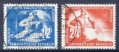 DDR MiNr. 273a/74 o Kupferschieferbergbau