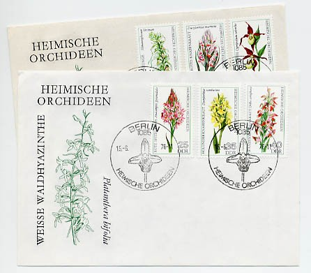 DDR FDC MiNr. 2135/40 Heimische Orchideen