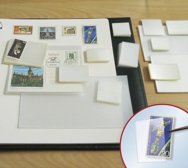 Klemmtaschen-Sortiment 200gr mind. 10 versch. Formate, glasklar