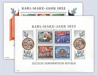 DDR Karl-Marx-Blockpaar gezähnt ** MiNr. Block 8A/9A