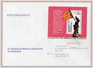 DDR FDC Bl. 42 MiNr. 2042 30. Jtg. d. Befreiung