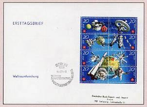 DDR FDC Klbg. MiNr. 1636/43 Sowjetische Weltraumforschung