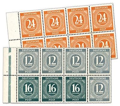 All.Bes.GA Ziffernserie 1946 **  Heftchenblatt 123+124