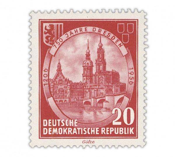 DDR MiNr. 525 YII ** 20Pf 750 Jahre Dresden
