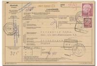 "BRD Auslands-Paketkarte ""Heuss"" o"