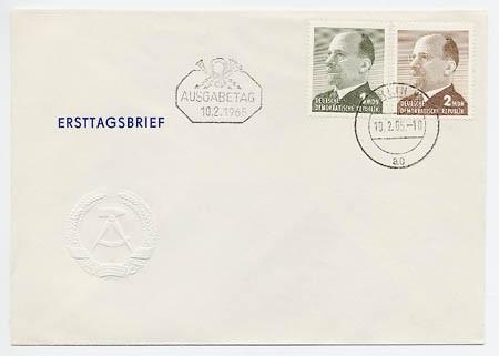 DDR FDC MiNr. 1087/88 Freimarken: Ulbricht (MDN)