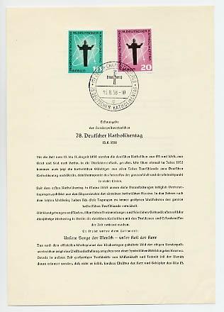 Berlin ETB-Nummer 38/ Mi. 179/80 o Amtliches ETB-WB / 1958