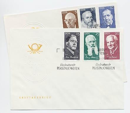 DDR FDC MiNr. 1644/49 Berühmte Persönlichkeiten (V)