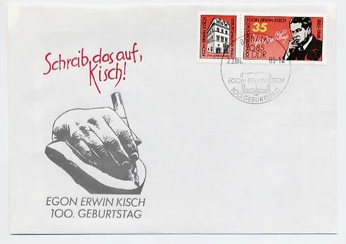 DDR FDC MiNr. 2940 Egon Erwin Kisch