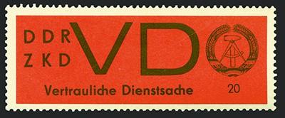 DDR Dienstmarken D MiNr. 3y ** Aufkleber für VD, gestrichens Papier