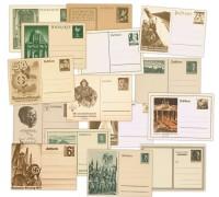 Dt. Reich 15 versch. Postkarten-Ganzsachen *