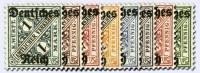Dt. Reich Dienst MiNr. 57/64 ** Dienstmarken Ziffer in Schildern (8 Werte)