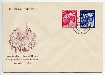 DDR FDC MiNr. 320/21 Völkerkongreß