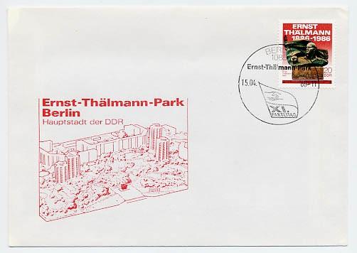 DDR FDC MiNr. 3014 Übergabe Thälmann-Park