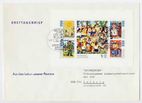 DDR FDC Klbg. MiNr. 1991/94 Junge-Pioniere
