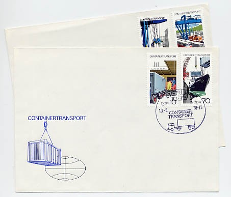 DDR FDC MiNr. 2326/29 Containertransport